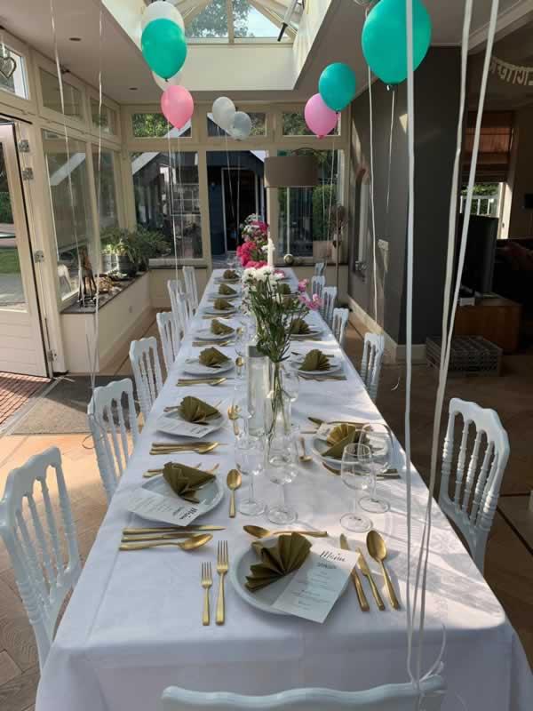 21 diner gedekte tafel