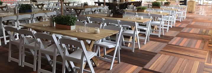 Rechthoekige tafels huren